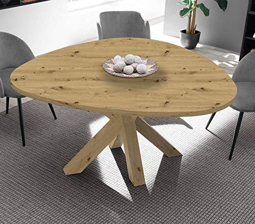 storado.de Esstisch asteiche 150x76x150 cm Big System Form Stern Dreieck Küchentisch Tisch
