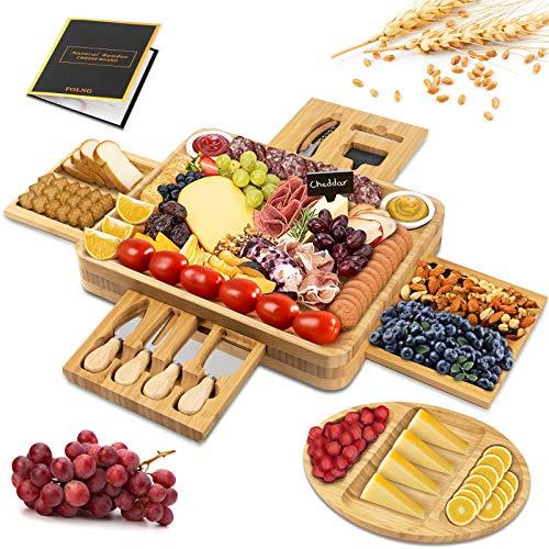 Bambou - Tabla de queso, bambú para cortar frutas y alimentos