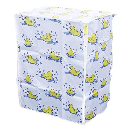 LIOOBO Waschmaschine Abdeckung Ente Mustern Wasserdicht Staubdicht Deckel für Waschmaschine Frontlader Trockner 56x63x85cm