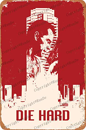 HONGXIN Die Hard Poster Vintage Tin signs Retro Metal signs Poster Plaque Bar Pub Cafe Garge Home Bedroom wall Decor 8×12 Inch