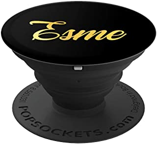 Esme Name Personalized Happy Birthday Fancy Girl Mom Black - PopSockets Grip and Stand for Phones and Tablets