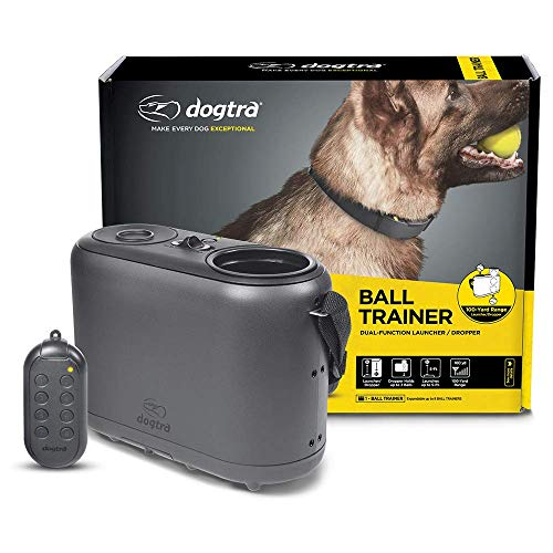 Dogtra Ball Trainer Replaceable Battery 100Yard DualFunction Launcher/Dropper for Immediate Reward Training