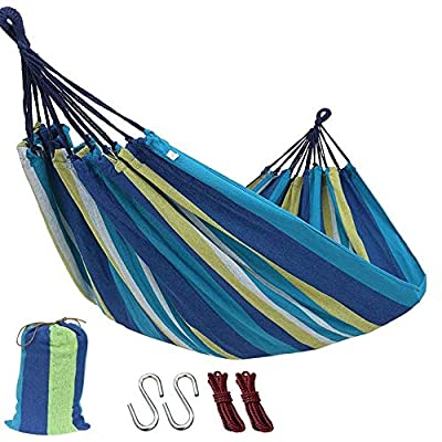 E KAINI Outdoor Garden Camping Hammock,Portable Hammock for Patio Yard Garden Backyard Porch Travel (260x80cm, Red)