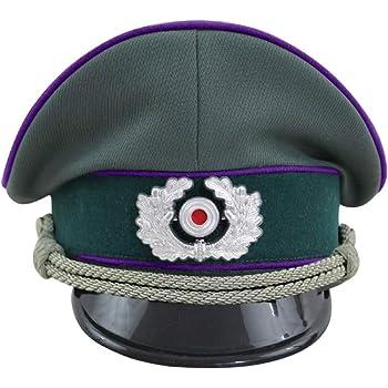 第二次世界大戦 ドイツ軍 国防軍 陸軍将校用制帽 牧師 ギャバジン材料 帽章付き-58