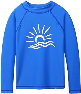 TFJH E ملابس السباحة Rashgurad بأكمام طويلة للفتيات والأولاد ملابس السباحة بعامل حماية من أشعة الشمس 50+ للأطفال