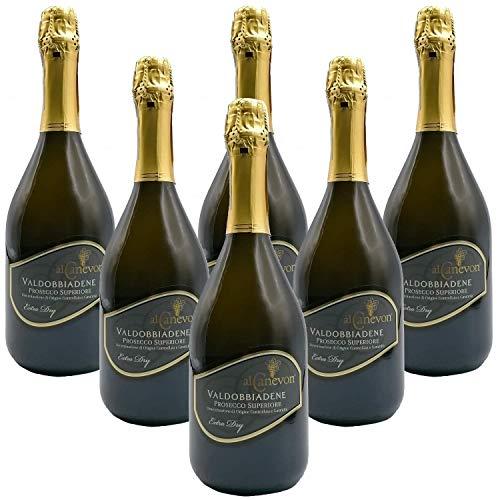 Prosecco Valdobbiadene Superiore DOCG EXTRA DRY Al Canevon - Offerta 6 Bottiglie 0,75ml