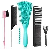 5 Pcs Detangling Hair Brush Set, Ez Detangler Brush...