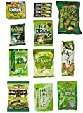 Japanese 'Matcha flavor Set' 14 packs of snacks, sweets and candies
