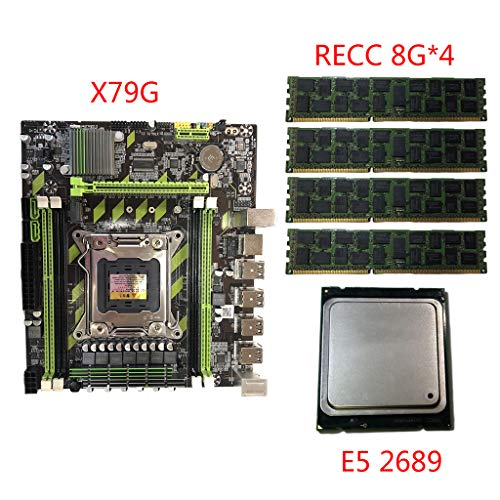 JOYKK X79G Turbo Moederbord LGA2011 Combos Moederbord E5 2689 CPU 4x8G DDR3 RAM PCI-E M.2 SSD-geheugen