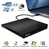 Grabadora CD/DVD Externa USB 3.0,ANIZR Unidad de CD/DVD Externa Portátil +/- RW ROM Quemador Silm Lector/Escritor Compatible para PC Desktop Laptop Windows Linux OS Mac Vista
