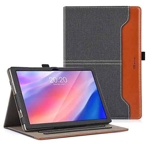 DLveer Custodia Cover per Blackview Tab 8 TECLAST P20HD TECLAST M40 Tablet 10.1  , Protezione a 360 Gradi con Angoli Multipli Custodia per TECLAST P20HD TECLAST M40 Blackview Tab8,Denim Nero