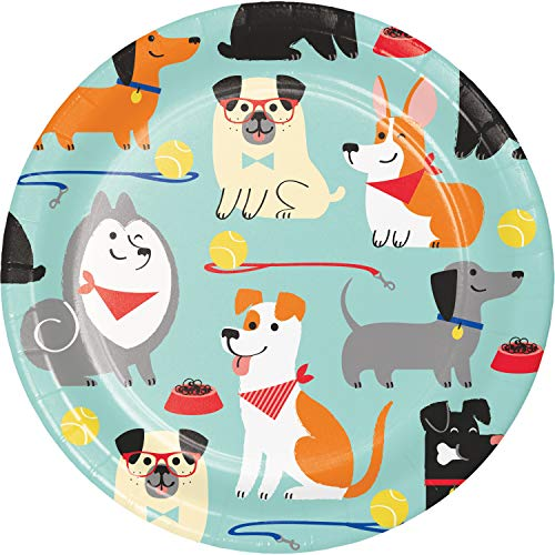 Dog Party Dessert Plates, 24 ct