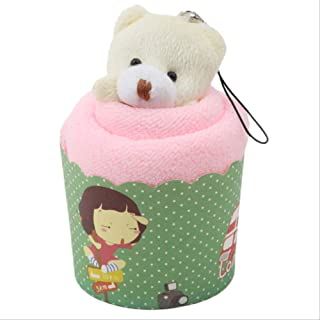 Foldable Yoga Mats Cotton Hand Towels,Creative Mini Bear Cup 30X30Cm Towels Face Towel Party Gifts New Year Christmas Coff...
