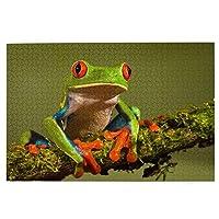 パズルLovely tree frog 1000ピース 木製パズルミニ 大人の減圧 絶妙な誕生日プレゼント