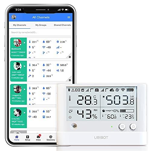 UbiBot WS1 Pro WiFi Temperature Humidity Sensor,Wireless Thermometer...