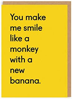 Ohh Deer Monkey With A New Banana Valentines Card