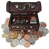 IMPACTO COLECCIONABLES Monedas de COLECCIÓN - 100 Monedas sin Circular de 100 Países + Cofre de Regalo