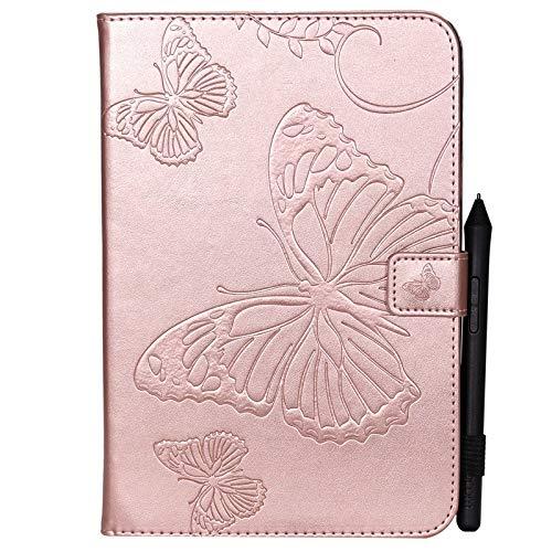 chenyuying Cubierta de la Caja de la Tableta de la Tableta del Soporte de la Cartera de la Cartera de la PU de la Flor de la Flor de la Flor para Samsung Galaxy Tab A 8.0 Inch SM-T350 (versión 2015)