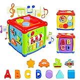 AiTuiTui Música Cubo de Actividades, 6 en 1 Incluye Caja de música Bloques...