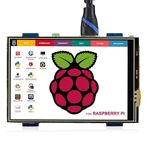 ELECROW 3.5インチ モバイルモニター Raspberry Pi用 3.5インチ モニター タッチパネルモニター HDMI LCD ディスプレイ ポータブルモニター 480*320 小型液晶モニター Raspberry Pi 4B 3B+ 3B 対応 ゲームモニター 1年付き