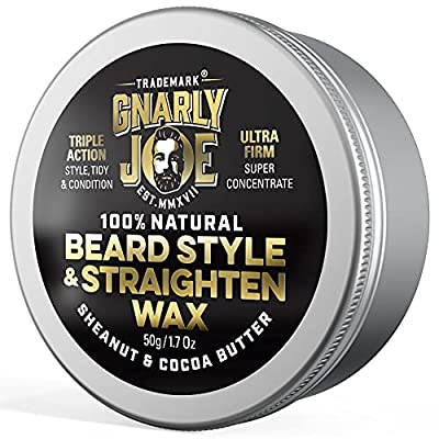 Gnarly Joe Unscented Beard Balm   Leave-In Wax Softener & Conditioner for Men   Tames Facial Hair Growth   Best Shaper & Mens Beard Relaxer (60ml)