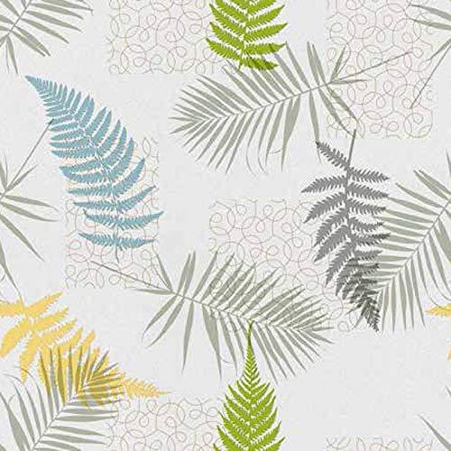 Mambo-Design Wachstuch Mimosa Grün · Eckig 140x200 cm · Länge wählbar· abwaschbare Tischdecke 0219
