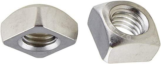 Quadratmutter. M6 DIN 562 Edelstahl A4 Einlegemutter 10 STK M6 Vierkantmutter niedrige Form