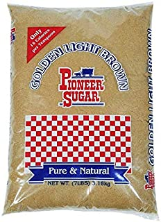 Again Products Pioneer Sugar | Golden Light Brown Sugar | 7 lb | Pure & Natural
