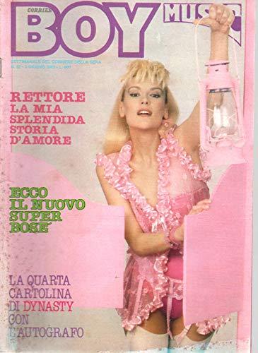 Boy Music 22 giugno 1983 Vasco Rossi-Miguel Bosè-Donatella Rettore-cartolina Pamela Sue Martin