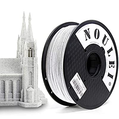 Noulei 3D Drucker Filament PLA Marmor Farbe, 3D Drucker Materialien 1.75mm, 1KG (2.2lb), 0.03 mm