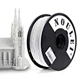 The surface of printed objects looks like Marble. Suggest using a 4 mm or larger nozzle.Low print speed is recommended. {Easy to Print, No clogging, Natural Material, Non Toxic} Diameter tolerance for NOULEI Metal Color Pla 3d Printer Filament as low...