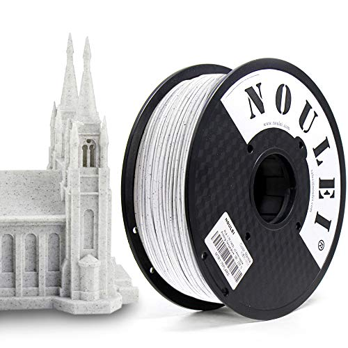 Noulei Filamento PLA de mármol de 1.75mm, filamento de impresión 3D PLA para impresora/pluma FDM 3D, 1kg
