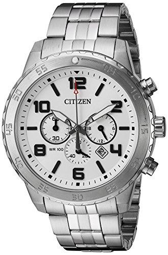 CITIZEN Analoog kwarts horloge met roestvrij stalen armband AN8130-53A