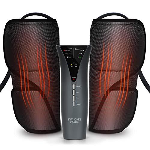FIT KING Massagegerät Beine Wadenmassagegerät mit Heizfunktion, Verbessert die Durchblutung & Entspannt Muskeln FT-017A