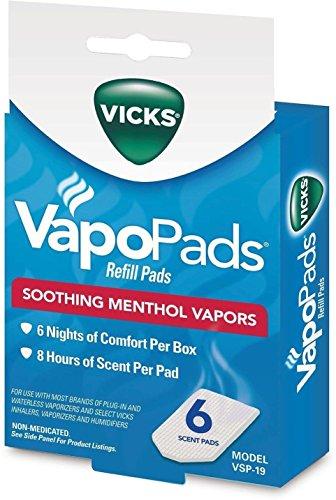 Vicks VapoPads Refill Pads Soothing Menthol Vapors, 6 Pads