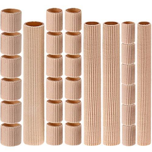 28 Pièces Tube de Coussin d'Orteil 0,98 Pouce 6 Pouces Manchons de Tube d'Orteil Protecteurs de Coussin de Cors en Gel Doux pour Cors, 3 Tailles (Tube de Coussin d'Orteil de Taille Mixte, 28 Pièces)