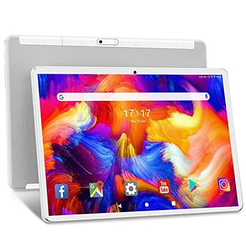 Tablet 10.1 Pollici ANTEMPER Android 10.0 5G WiFi Tablets Octa-Core,1920x1200 FHD IPS,13MP+5MP Doppia Fotocamera, Batteria 6000mAh,32GB ROM,128GB Expandable Storage, Wi-Fi|GPS |Bluetooth|FM|OTG-Bianco