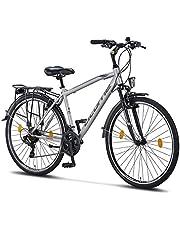 Licorne Bike Bicicleta de trekking prémium de 28 pulgadas, para hombres, jóvenes, mujeres y hombres, 21 velocidades, bicicleta de ciudad para hombre, Life M-V-ATB