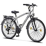 Licorne Bike - Bici da trekking, 71 cm, per giovani, donne e uomini, cambio Shimano a 21 marce –...