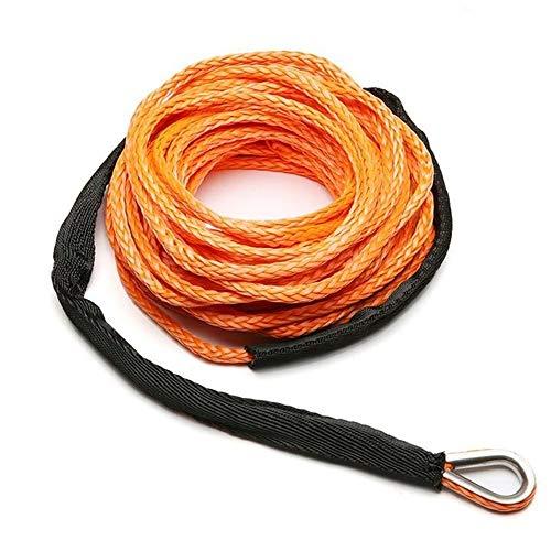 Chendunchishi 7700lbm 15m * 6mm Noodveiligheid kabelkabel draad lier kabel kabel met mantel oranje synthetisch trekkoord