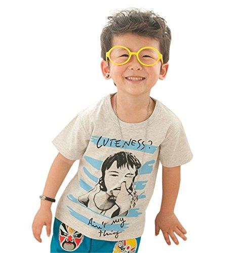 Mode T-shirt à manches courtes pour homme T-shirt pour garçon - - Taille Unique
