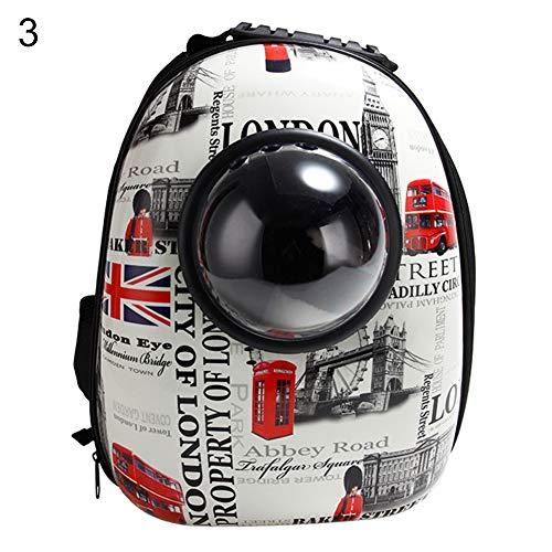 FeiyanfyQ Tragbarer Rucksack für Haustiere, Weltraumkapsel-Design, Wasserdichter Rucksack für Katzen und kleine Hunde, Auswahl, acryl, 3#