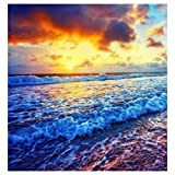 Yehapp 5D Diamond Painting Kit para niños Adultos, 5D Diamond Painting Set Cross Stitch Coloured Sea Ocean Waves Numbers Wall Art Home Deco, 30x30cm