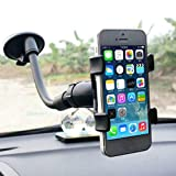 LUYANhapy9 Car Interior Accessories, Universal Rotating Flexible Pipe Cell Phone Holder Car Windshield Sucker Mount for GPS Car Decoration Gift