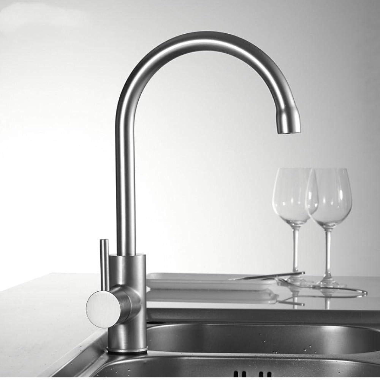 Gorheh Warmes Und Kaltes Wasser Klassische Küchenarmatur Space Aluminium Gebürstet Prozess Schwenkarmatur 360-Grad-Drehung
