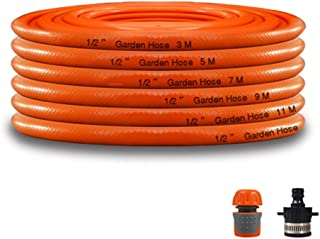Garden Hose HAIYU- 1/2 Inch Home Irrigation Hose, Flexible and Wear Resistant, 3 Layer Structure, 12mm PVC Watering Hose Pipe with Connection Kit, Orange (Color : 1/2 Inch, Size : 100m)