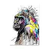 Calle Graffiti Mono Gorila Poster Minimalista Graffiti Pared Arte Moderno Hogar Gorila Graffiti Decoracion Lienzo Pintura Nórdico Estilo Cuadros (No Marco)