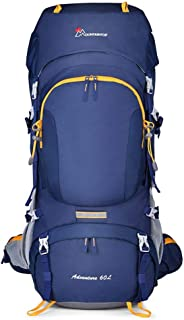 SP-Xhz Mountaineering Bag Multi-Function Outdoor Walking Equipment Equipment Backpack Men and Women Climbing Bag (Color : Blue, Size : 60l)