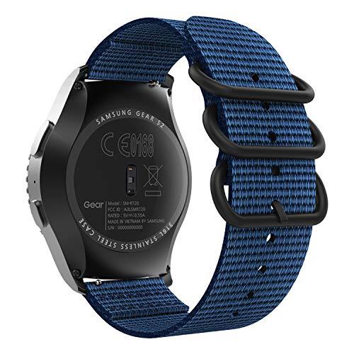 MoKo Banda de Reloj Compatible con Vivoactive 3/Galaxy Watch 3 41mm/Galaxy Watch 42mm/Galaxy Watch Active/Gear S2 Classic/Ticwatch E/2, Pulsera Deportiva de Reloj para Hombres y Mujeres