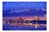 Promini Anchorage, Alaska - Cityscape and Mountains at Night - 1000 Piece Jigsaw Puzzles for Adults Kids, Puzzles for Toddler Children Learning Educational Puzzles Toys for Boys and Girls 20' x 30'